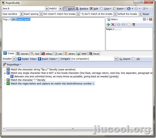 推荐:正则表达式编写神器 -- JGsoft RegexBuddy